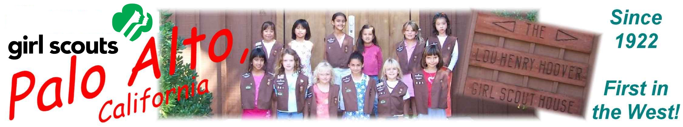 Girl Scouts of Palo Alto Home Page Banner